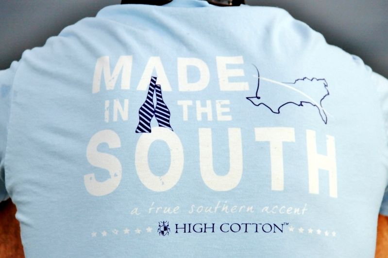 Made in the south tee! They are hand made in NC! I love it! In love!!