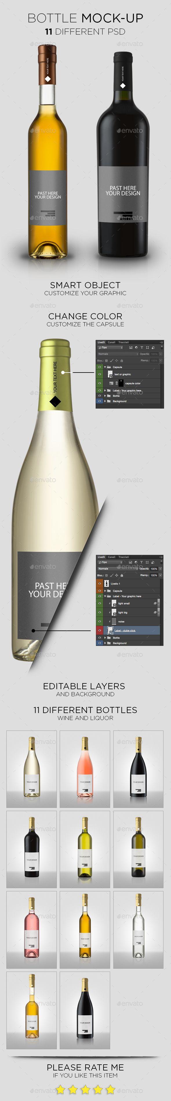 Download Bottle Mock Up Professional Shoe Box Mockup Fully Customizable Design Identity Mockup Productmockup Packaging Shoebox Bottle Mockup Bottle Wine Bottle