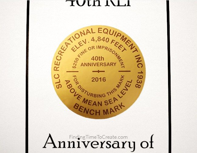 image relating to Silhouette Printable Gold Foil named Benchmark Anniversary with Silhouette printable gold foil