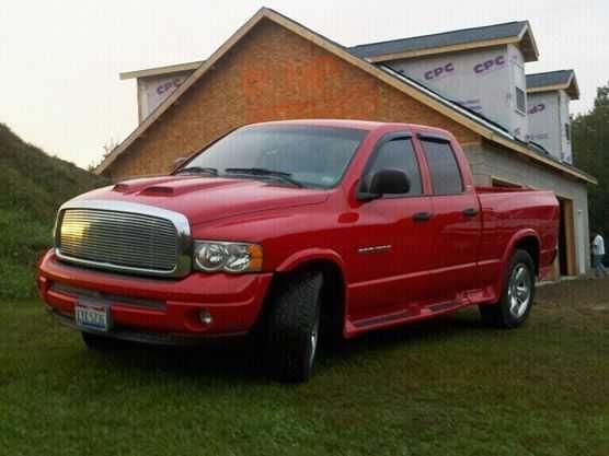 2002 Dodge Ram 1500 Red Quad Cab 4x4 47l Engine 145000 Miles Great