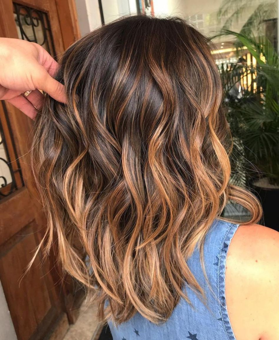 60 Looks With Caramel Highlights On Brown And Dark Brown Hair Brunette Hair With Highlights Dark Brown Hair Color Summer Hair Color