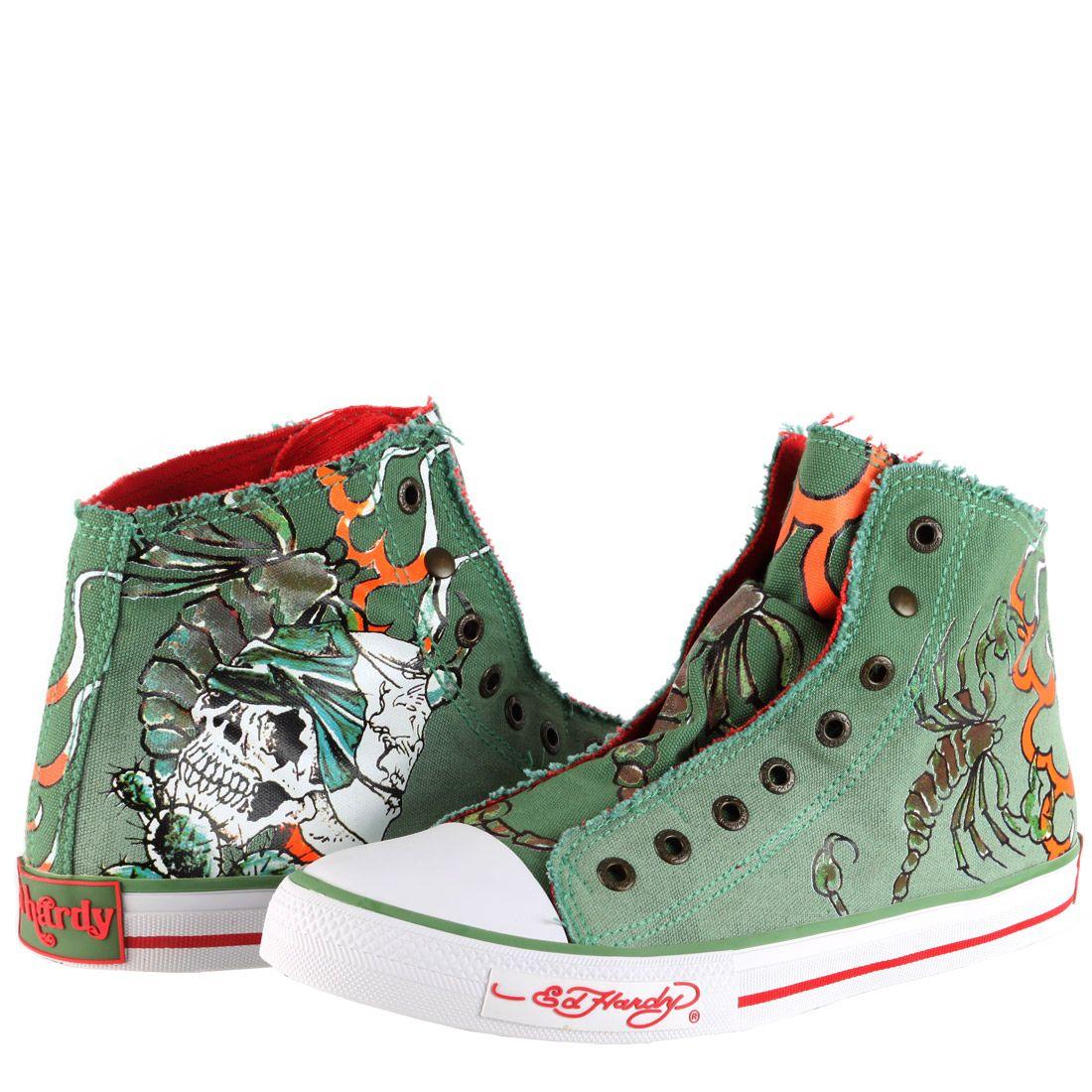 0e546fce8f0531 Ed Hardy Highrise Sneaker for Men - Military