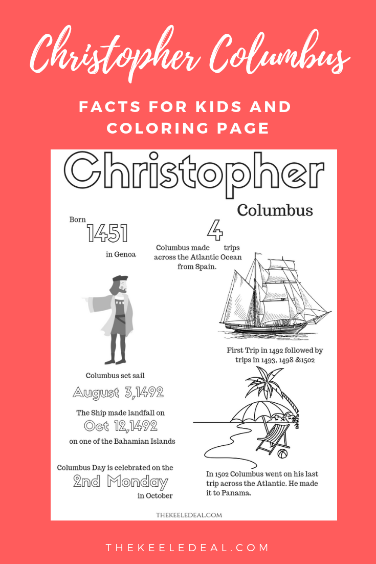 Facts And Coloring Page About Christopher Columbus School Columbus Education Freeprintab Christopher Columbus Facts Science Activities For Kids Fun Lessons