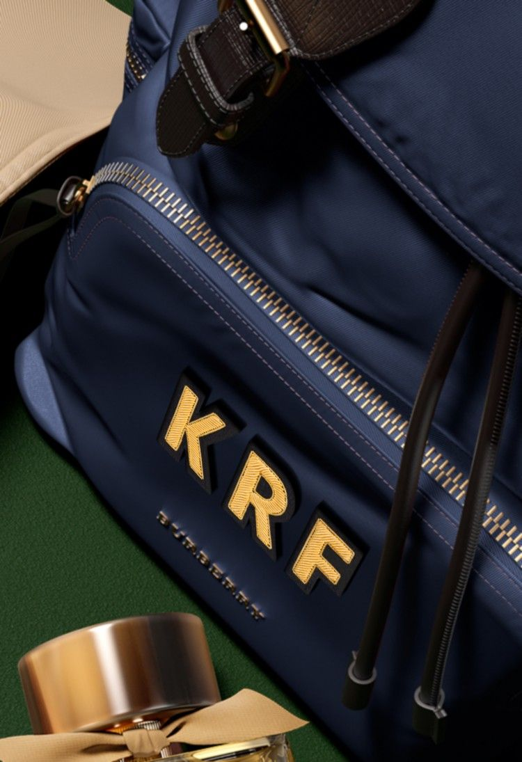 cea22fef7dc Personalise The Rucksack with our Burberry monogramming service. Add up to  three gold initials to the front pocket.