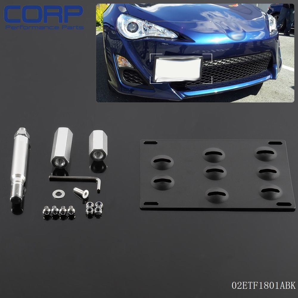 Bumper Tow Hook License Plate Mounting Bracket Holder For 2013 Up Scion Fr S Motorcycle Accessories License Plate Bumpers