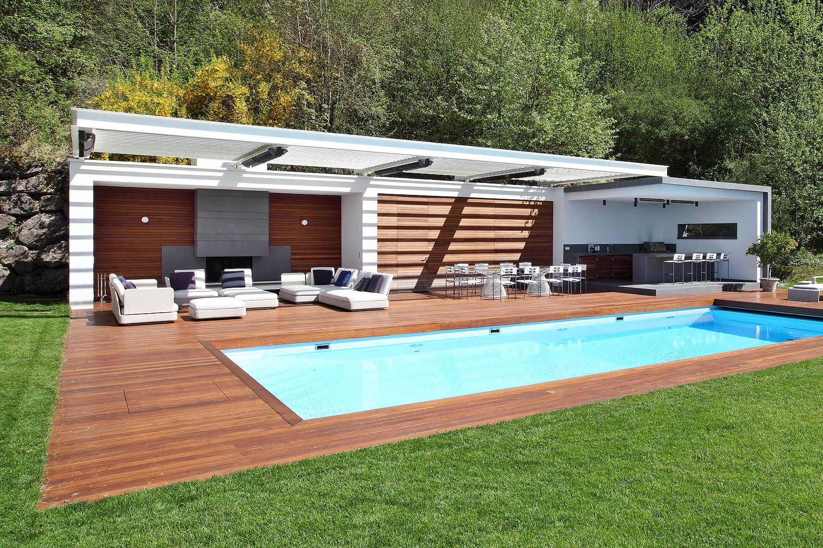 Alu / Wood Design Poolhouse | Great Outdoors | Pinterest | Wood Design,  Woods And Pool Houses