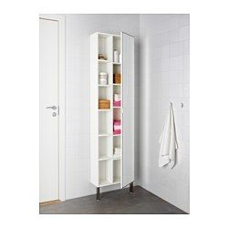 lill ngen spiegelschrank 1 t r 1 abschlregal wei. Black Bedroom Furniture Sets. Home Design Ideas