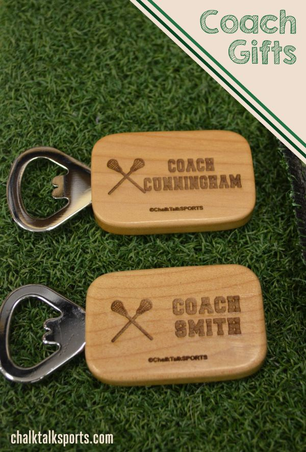 Custom Bottle Openers make the perfect end of season gift for your Lacrosse Coach! ChalkTalkSPORTS.com