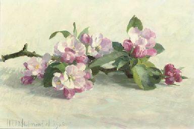 Henk Helmantel (DUTCH, B. 1945)   Apple blossom