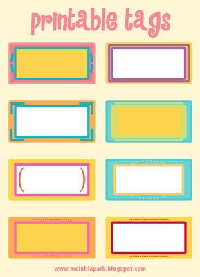 Free Printable Cheerfully Colored Tags Ausdruckbare Etiketten - 3x4 name tag template