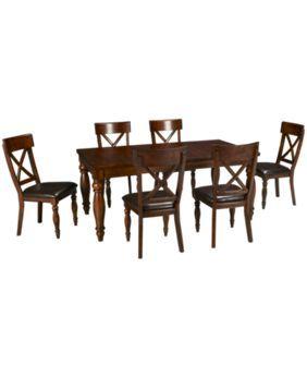 Intercon Kingston Kingston 7 Piece Dining Set Jordan S Furniture In 2020 Dining Set 7 Piece Dining Set Dining Set With Bench