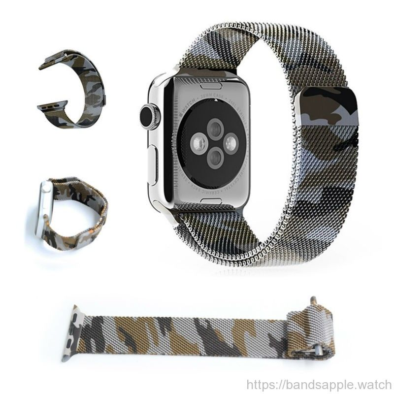 9d6cce22677aa0 Milanese loop for apple watch camouflage purple wrist strap stainless steel  for iwatch Standard Sport with magnetic clip //Price: $39.40 & FREE  Shipping ...