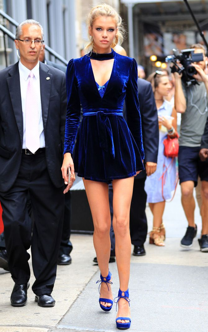 Vestido azul rey terciopelo