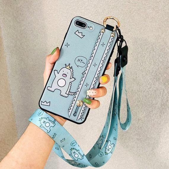 Custom Monster Soft Tpu Neck Wrist Strap Lanyard iPhone Case | Etsy