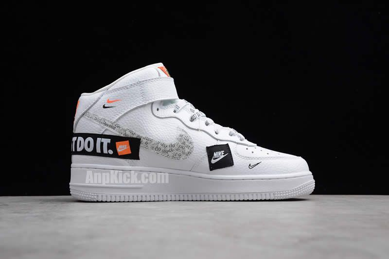 Custom Air Force 1 High Just Do It Af1 White Black Cheap Price