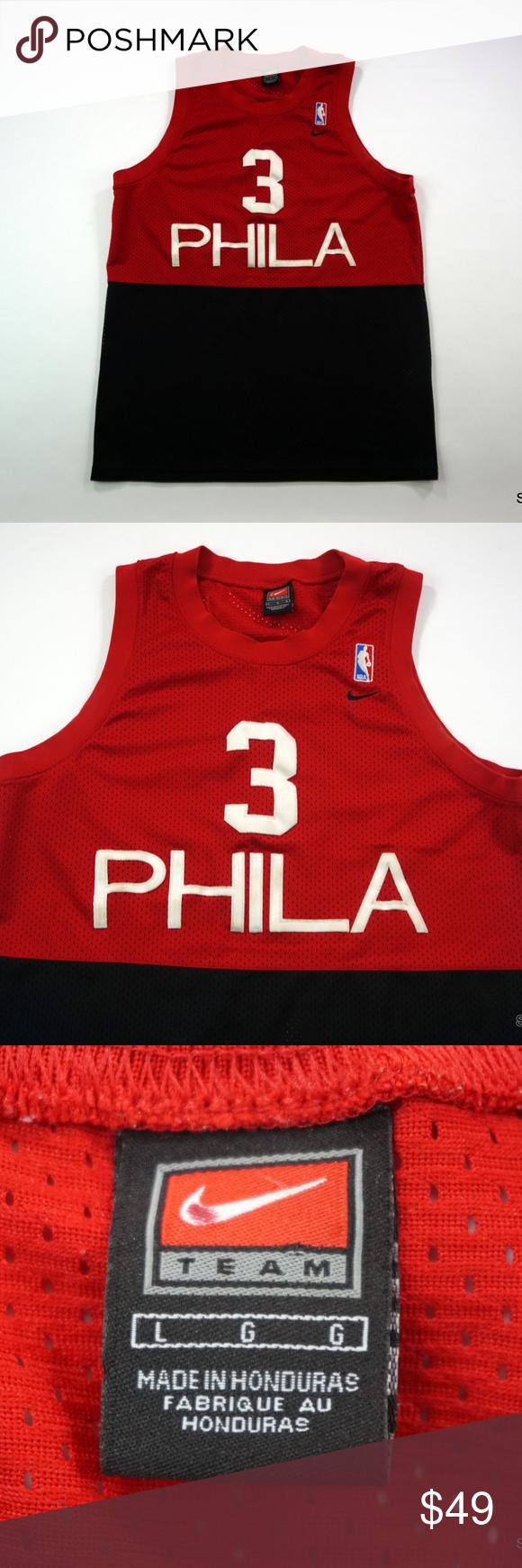 435e9b3ede4 Nike Phila Philadelphia 76ers Allen Iverson Jersey Nike Throwback Phila  Philadelphia 76ers Allen Iverson Basketball Jersey