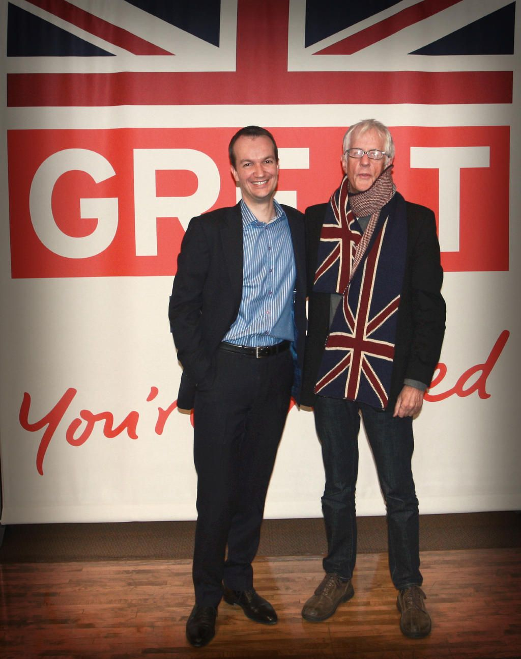 British director Michael Apted (and his fantastic scarf!) visited the British Consulate-General, New York ahead of tomorrow's IFC Center premiere of 56 Up.