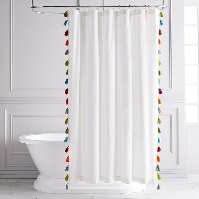 Colorful Tasseled Shower Curtain Pier 1