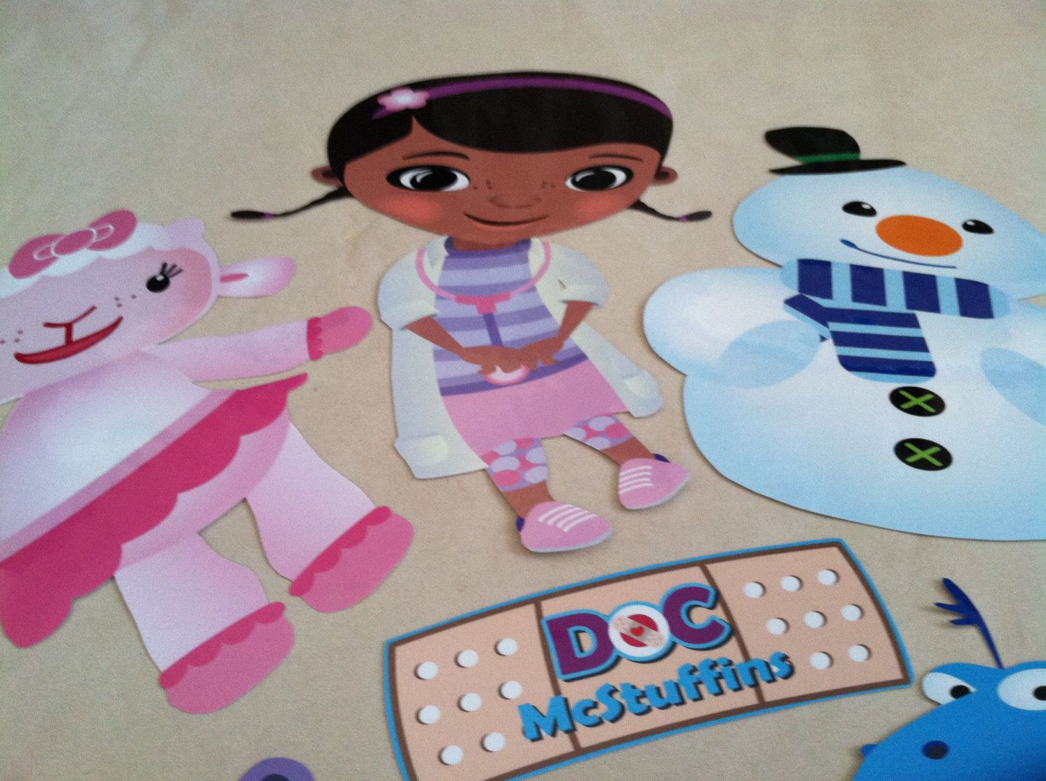 Doc McStuffins Laminated Happy Birthday Party Wall Art Cut Outs NEW ...