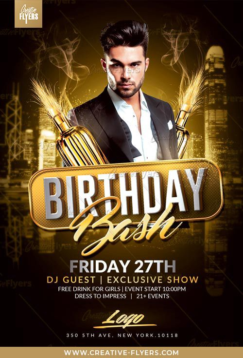 Birthday Flyer Psd Templates Photoshop Elegant Flyer Templates