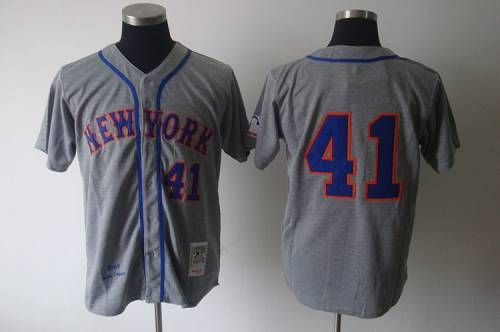 Mitchell And Ness 1969 Mets #41 Tom Seaver Grey