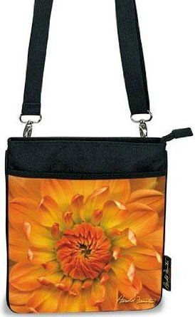 Harold Feinstein Cross Body Bag Orange Dahlia