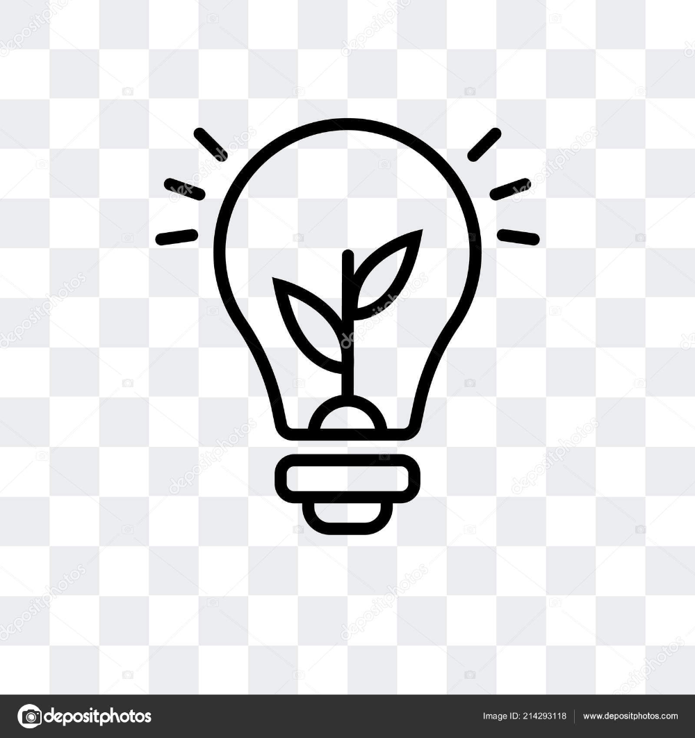 Light bulb vector icon isolated on in 2020 Light