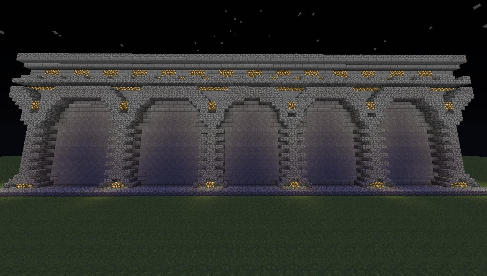 minecraft stone wall designs