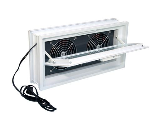 Redi2set Fresh Air Vents Are Manufactured In Many Sizes To Fit Any Size Glass Block Window Dryer Basement Ventilation Bathroom Ventilation Glass Block Windows
