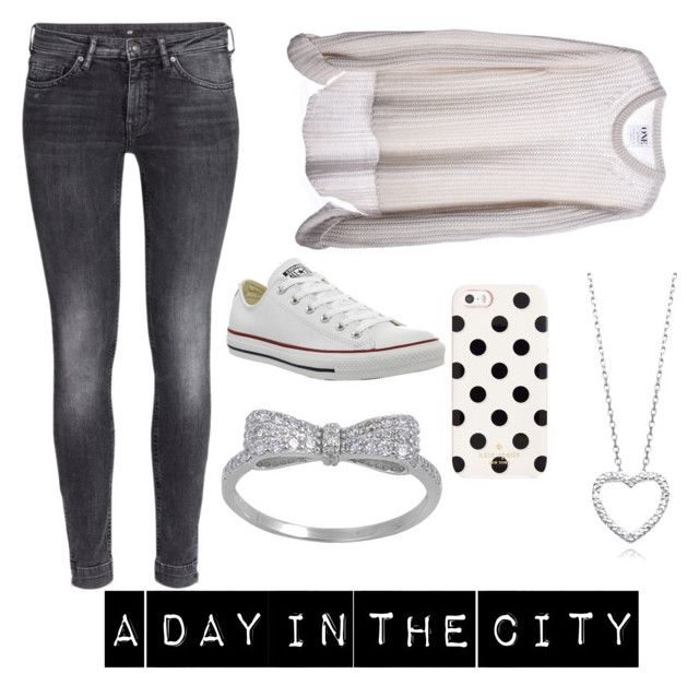 """""""A Day In The City"""" by cant-touch-this101 ❤ liked on Polyvore featuring H&M, One Teaspoon, Converse and Kate Spade"""