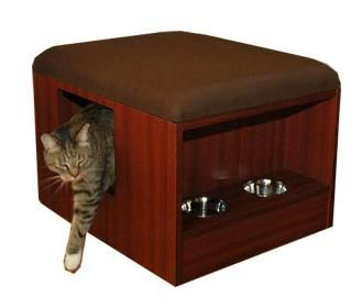 Cat Quarters: All In One Cat Litter Box Enclosure And Feeding Station    Home Interior Design Themes