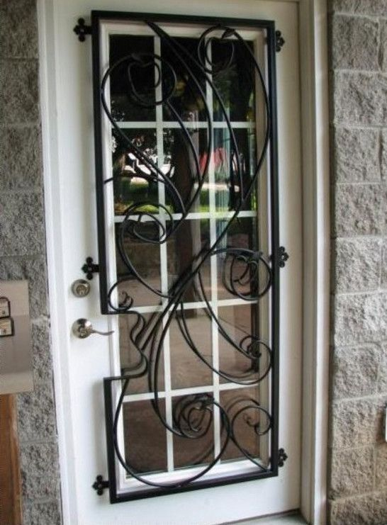 Awesome front door window security bars pictures ideas house decorative door window bars entre pinterest window bars front door security eventshaper