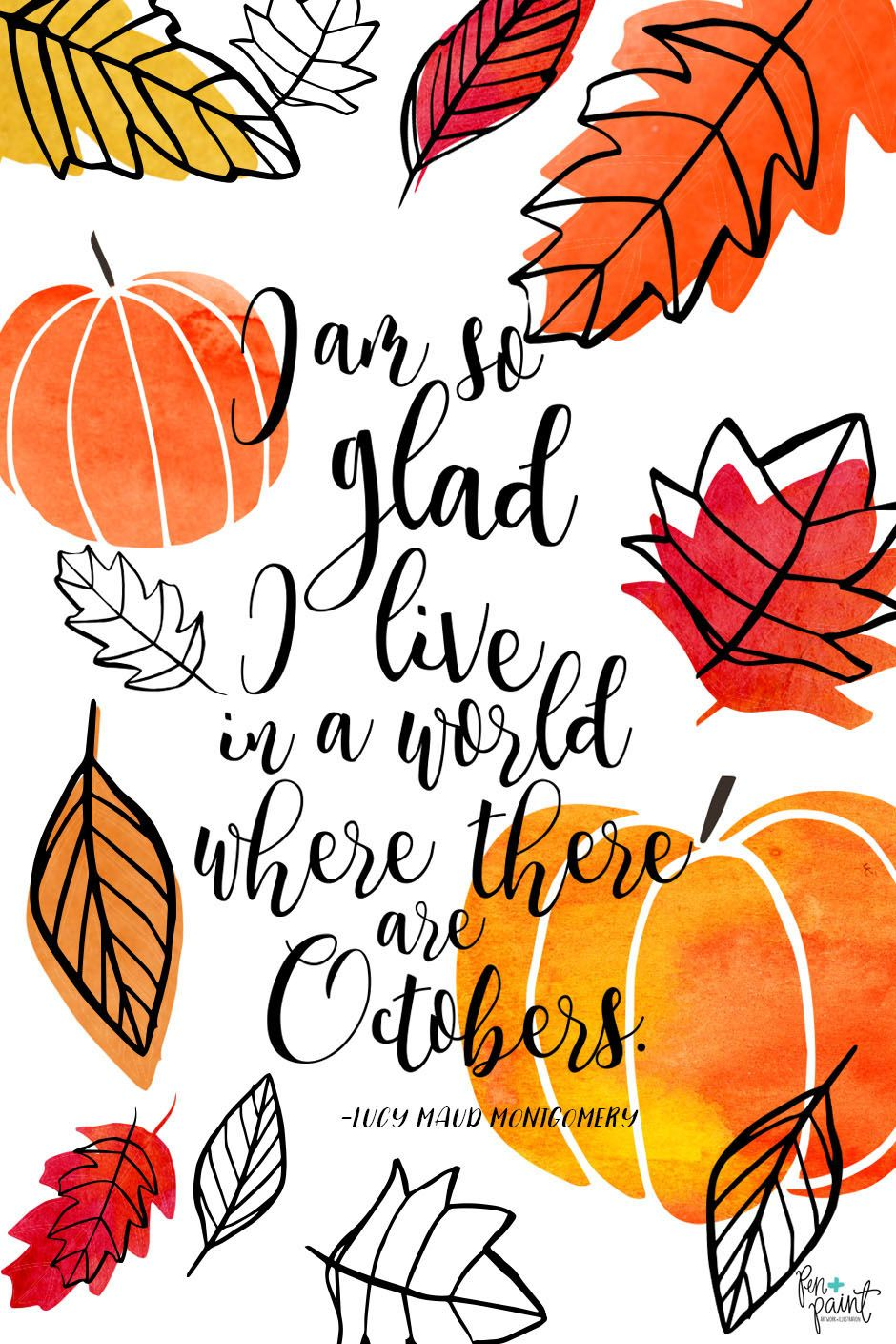 free october phone background and desktop background by pen and paint