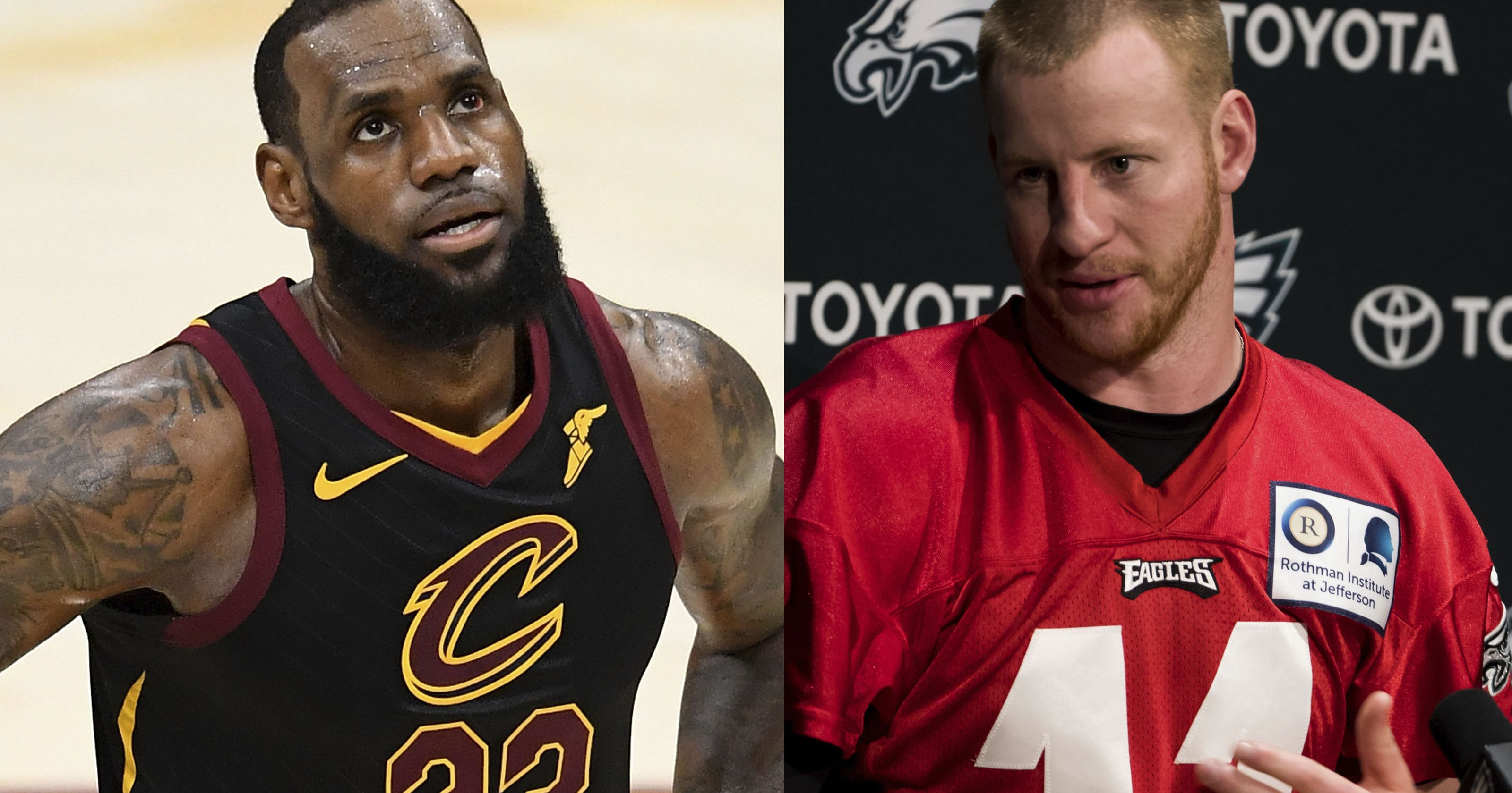 Carson Wentz says he'd 'absolutely' help recruit LeBron to