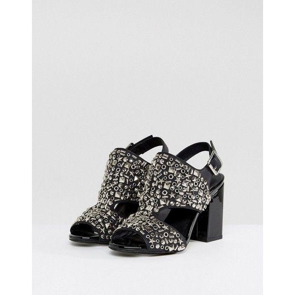 Starr Black Studded Heeled Sandals - Black Jeffrey Campbell ZIbuuVx4v