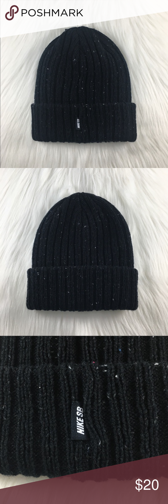 the best attitude 7e0f1 87aaa Nike SB Surplus Black Beanie Nike SB Surplus Black Beanie features soft  blended fabric and a cuffed design for warm, comfortable coverage.