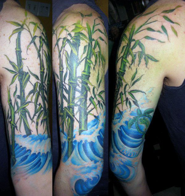 50 Bamboo Tattoo Designs For Men Lush Greenery Ink Ideas Bamboo