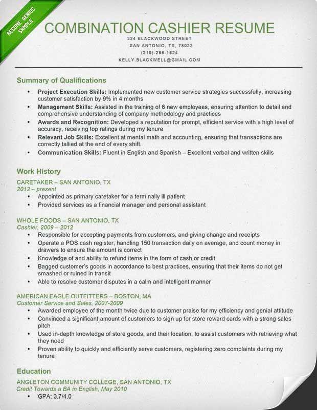 Resume Examples Cashier Resume Skills Job Resume Samples Resume Writing Tips