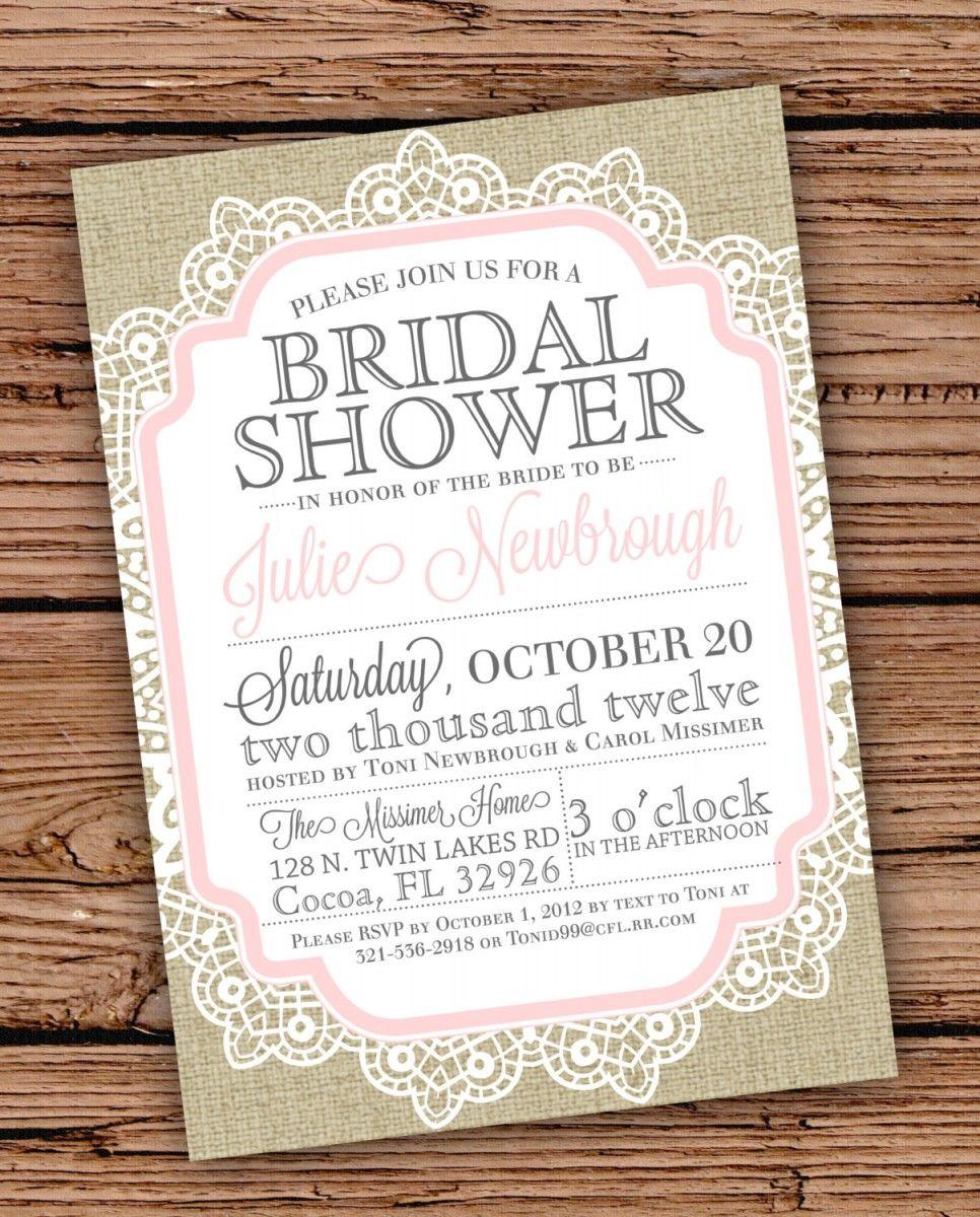 6 Vintage Bridal Shower Invitations Cheap Invitations Hub