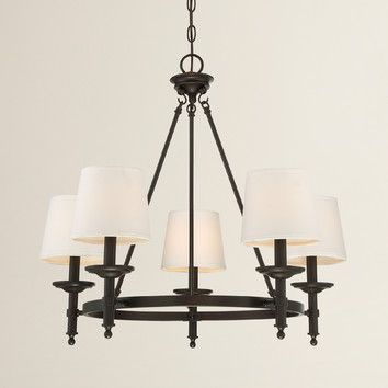 Birch lane glastonbury 5 light shaded chandelier reviews wayfair