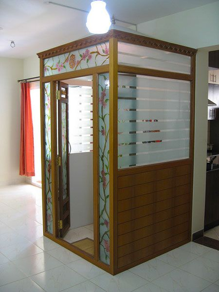 Traditional modern pooja room designs incorporated in for Room door design for home