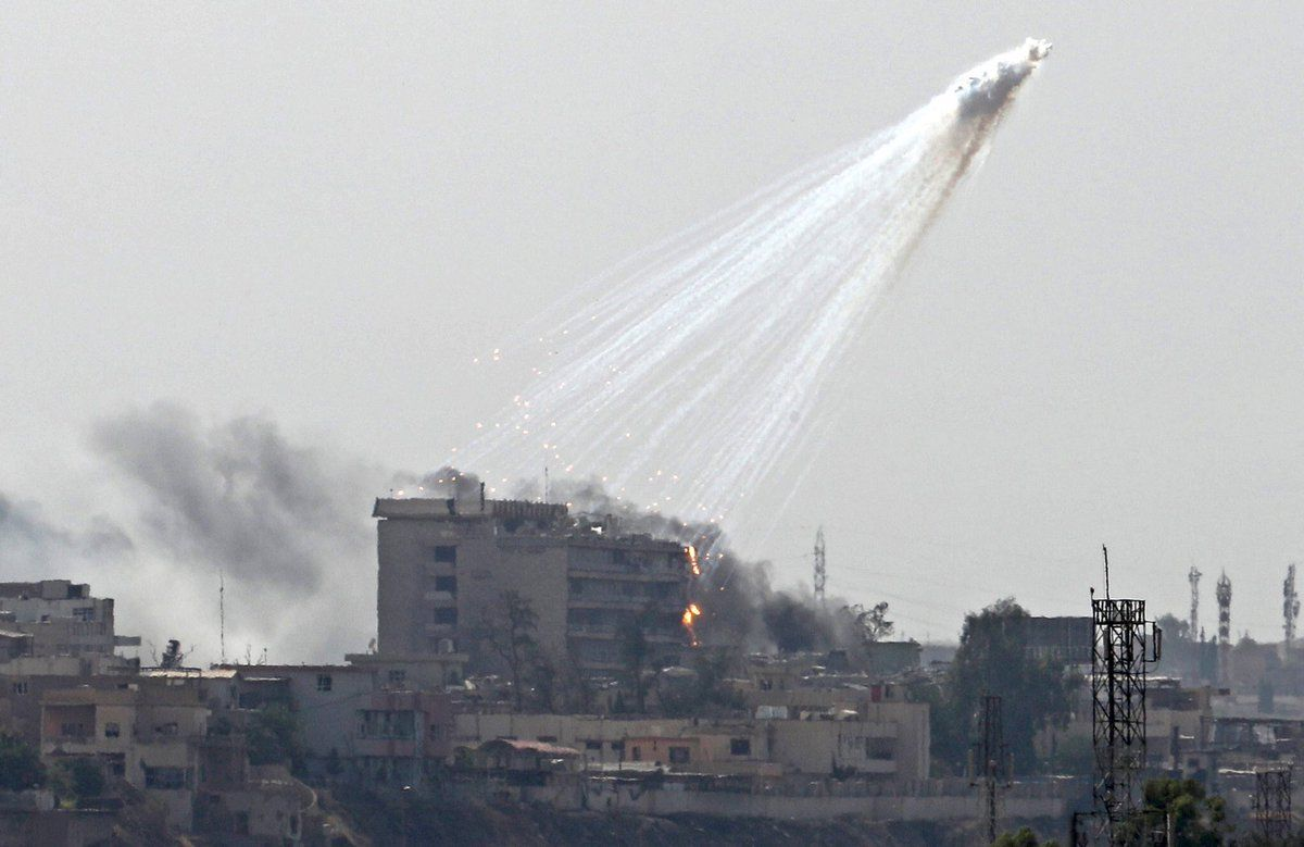 Syria The Euphrates Under Phosphorus Bombs White Phosphorus