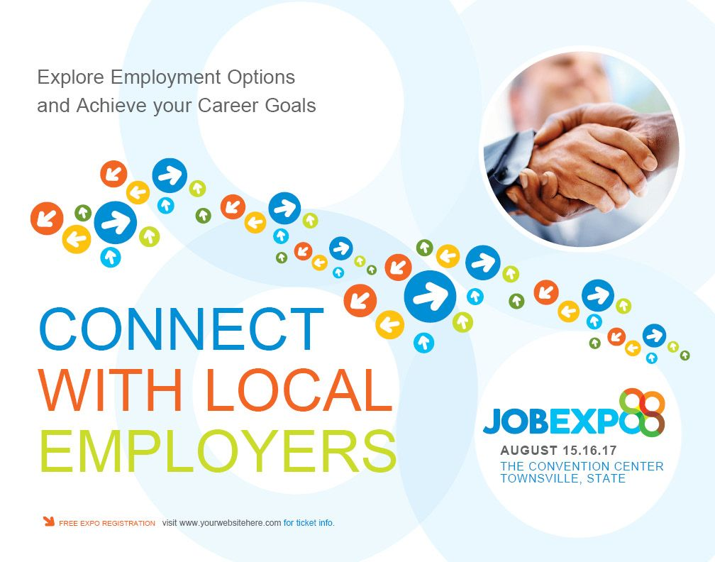 job expo career fair poster template graphic design job expo career fair poster template