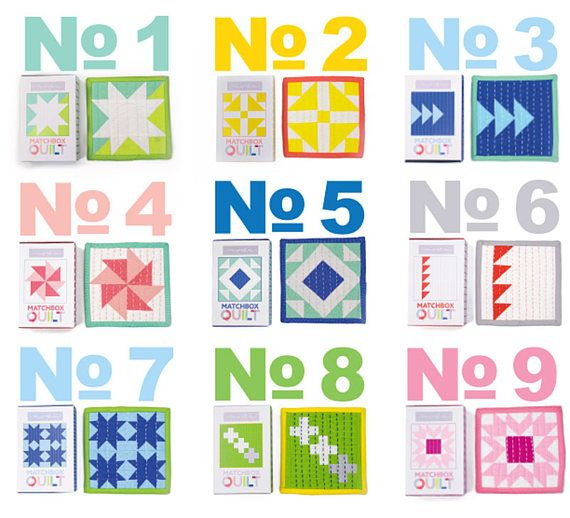 All 9 MATCHBOX QUILT Block KIT Presale / Preorder All 9