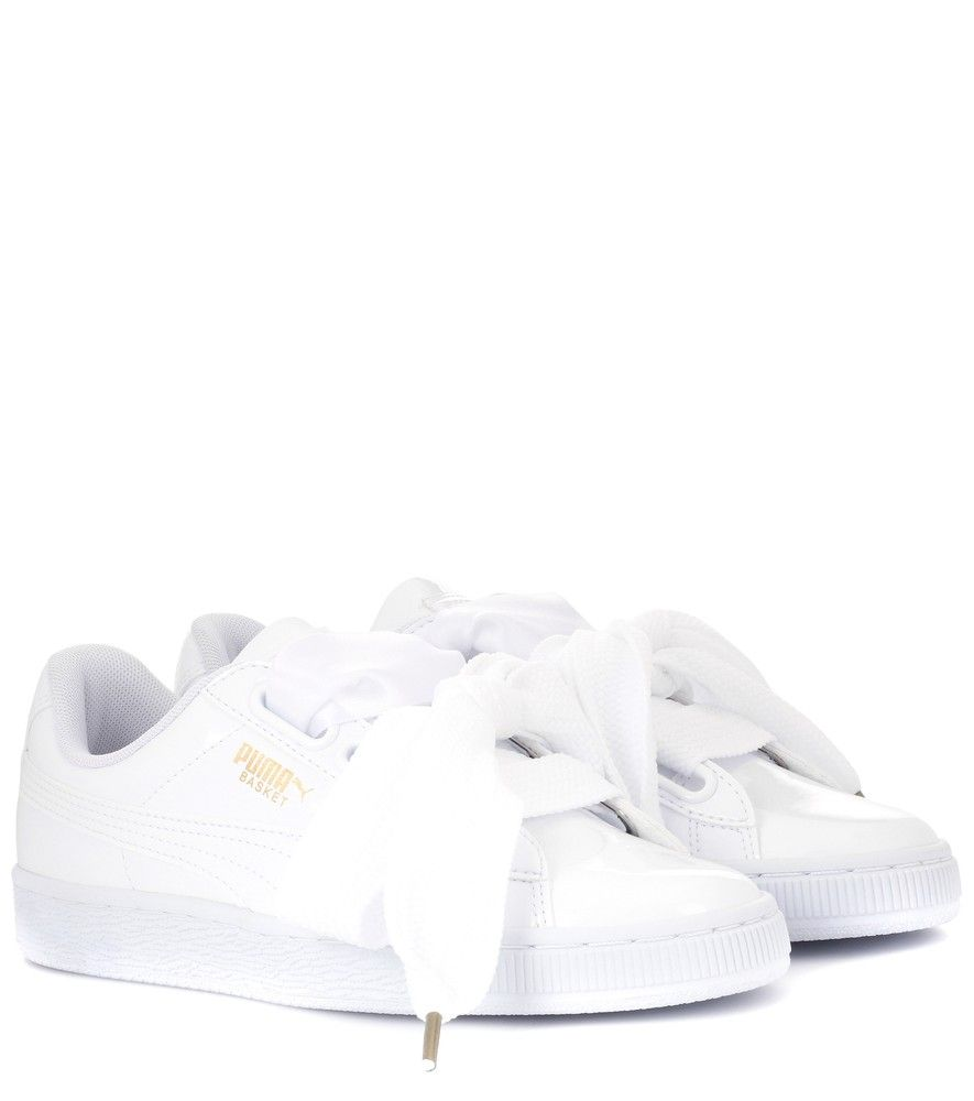 Puma Women's Basket Heart Patent Casual Sneakers from Finish