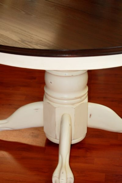 How To Refinish My Pedestal Kitchen Table