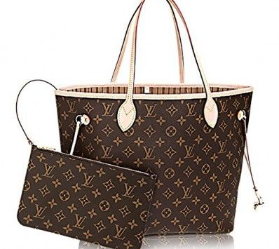 Authentic Louis Vuitton Neverfull Mm Monogram Canvas Beige Handbag Article M40995