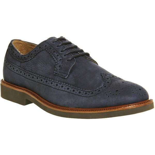 Ralph Lauren Torngtn Oxford Shoes ($220) ❤ liked on Polyvore featuring mens, men's shoes, men's oxfords, casual, men, navy and shoes