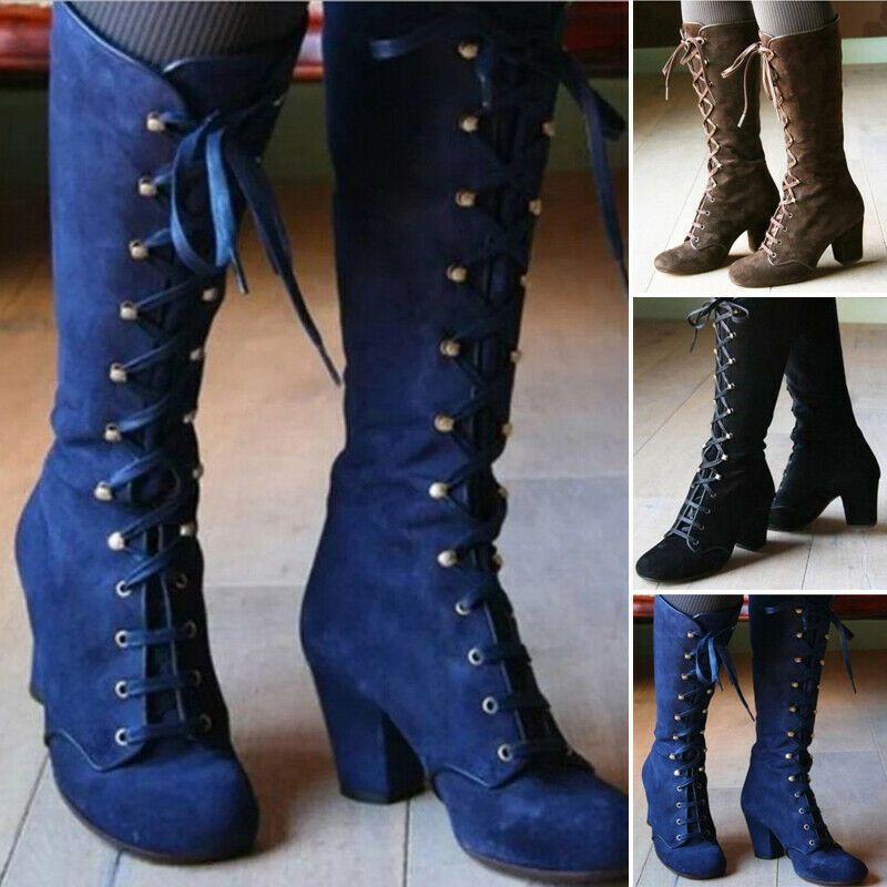 Botas de media caña medievales calzado de hombre piel