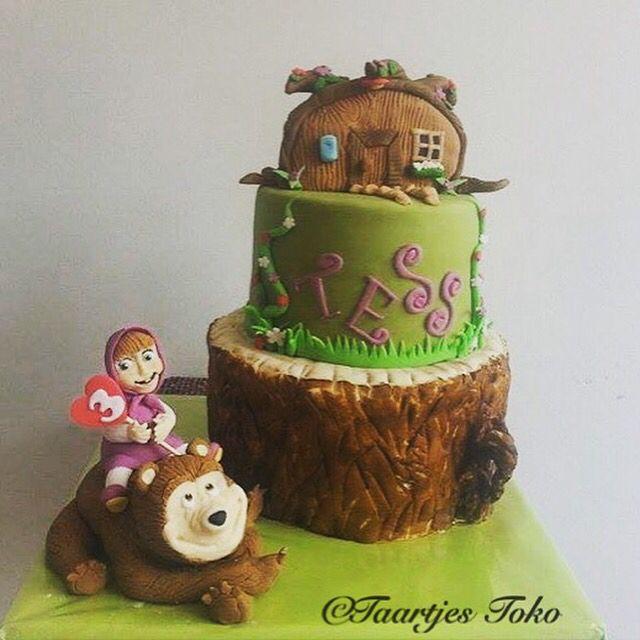 Masha And The Bear Birthday Cake Taarten  Cakes Pinterest - Bear birthday cake